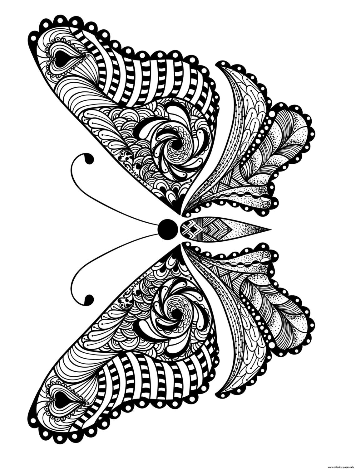 Advanced Insect Animal Adult Coloring Pages Printable | free printable colouring pages for adults animals