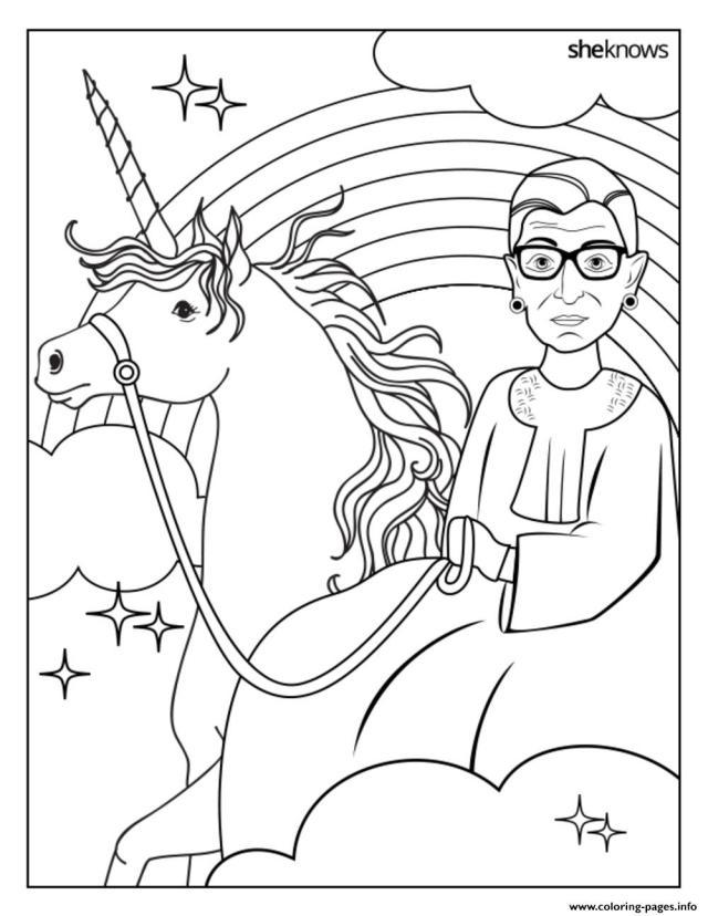 Ruth Bader Ginsburg Coloring Pages Printable