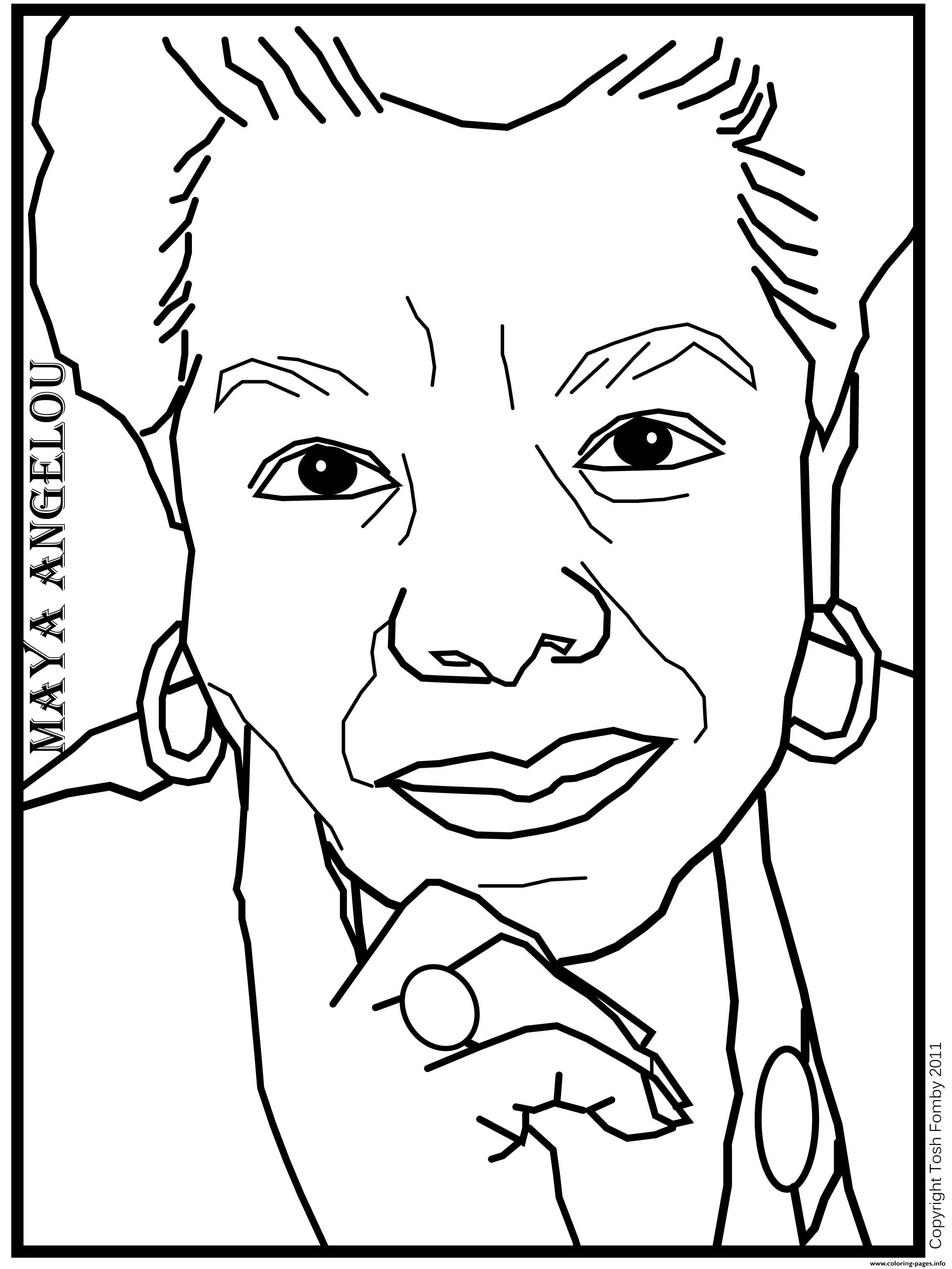 Angelou Coloring Pages Printable