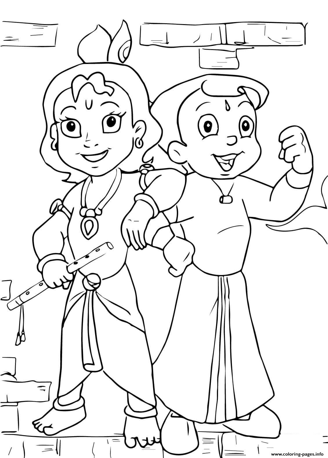 Lord Krishna Coloring Pages