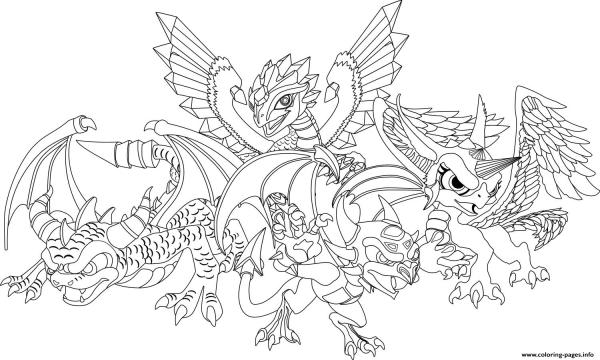 coloring pages dragon # 5