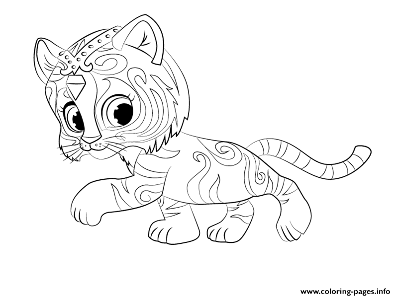 Tiger Nahal From Shimmer And Shine Coloring Coloring Pages
