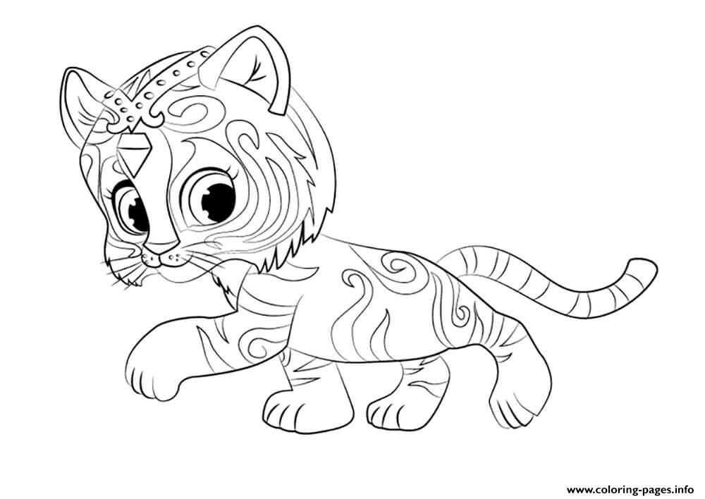 Shimmer And Shine Nahal Coloring Pages Printable
