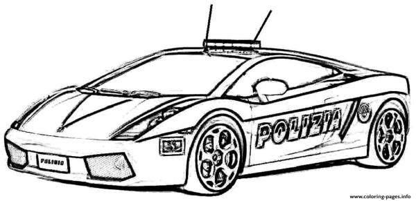 police car coloring page # 11