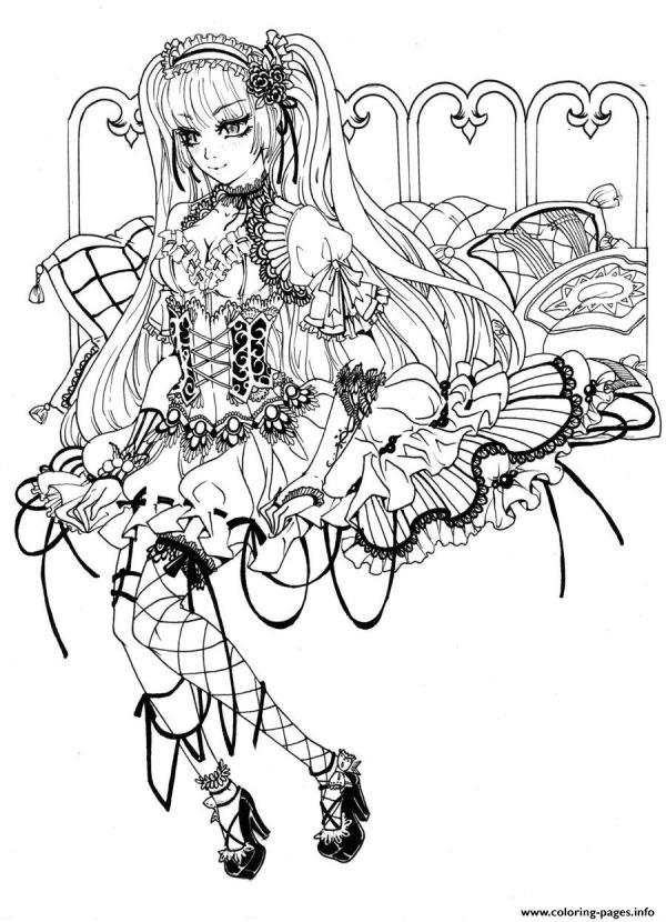 gothic coloring pages # 3