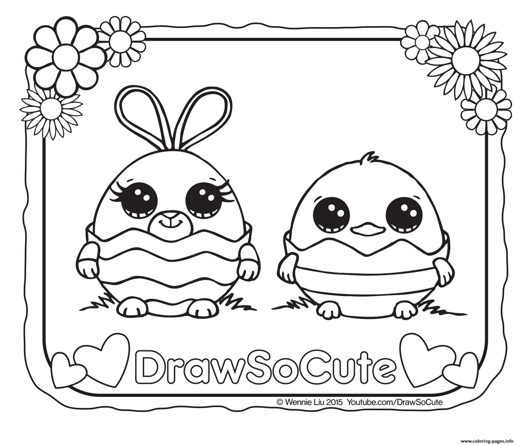 Easter Draw So Cute Coloring Pages Printable