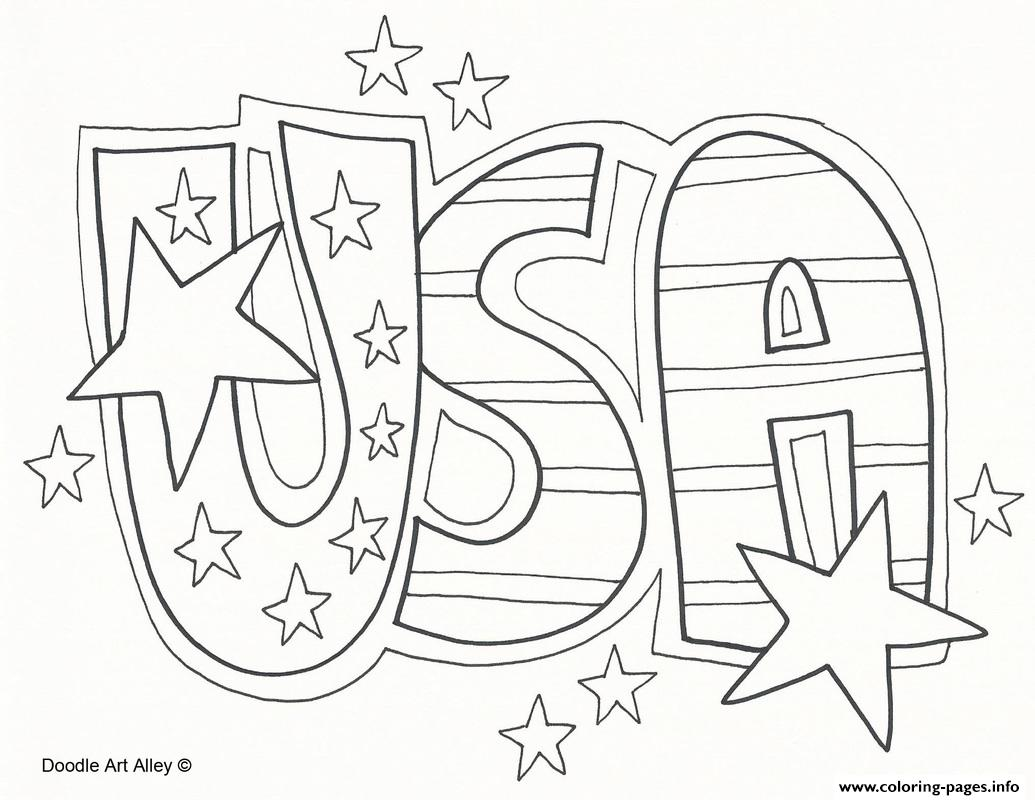 Usa Celebration 4th July Coloring Pages Printable