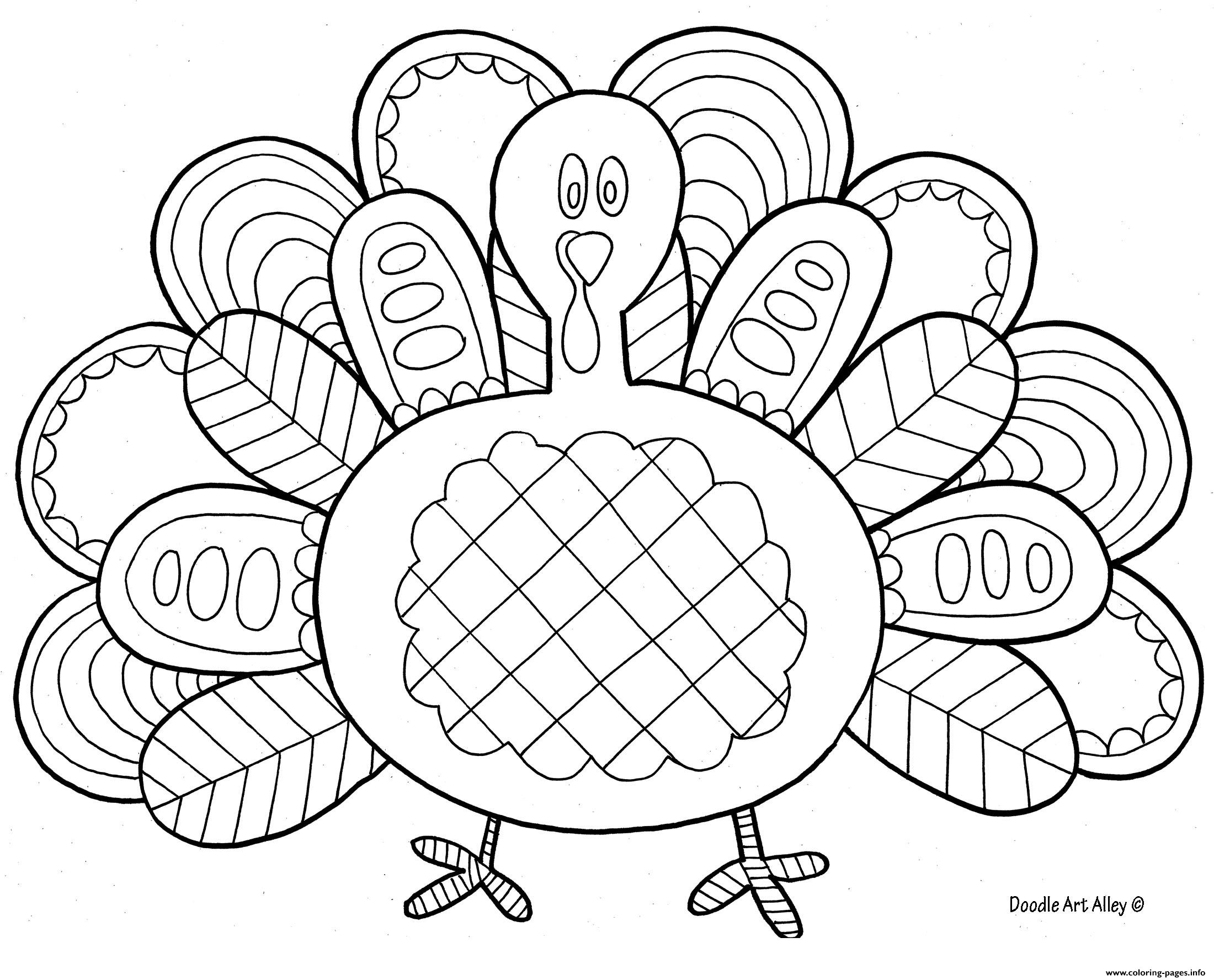 Amazing Turkey Thanksgiving Adult Coloring Pages Printable