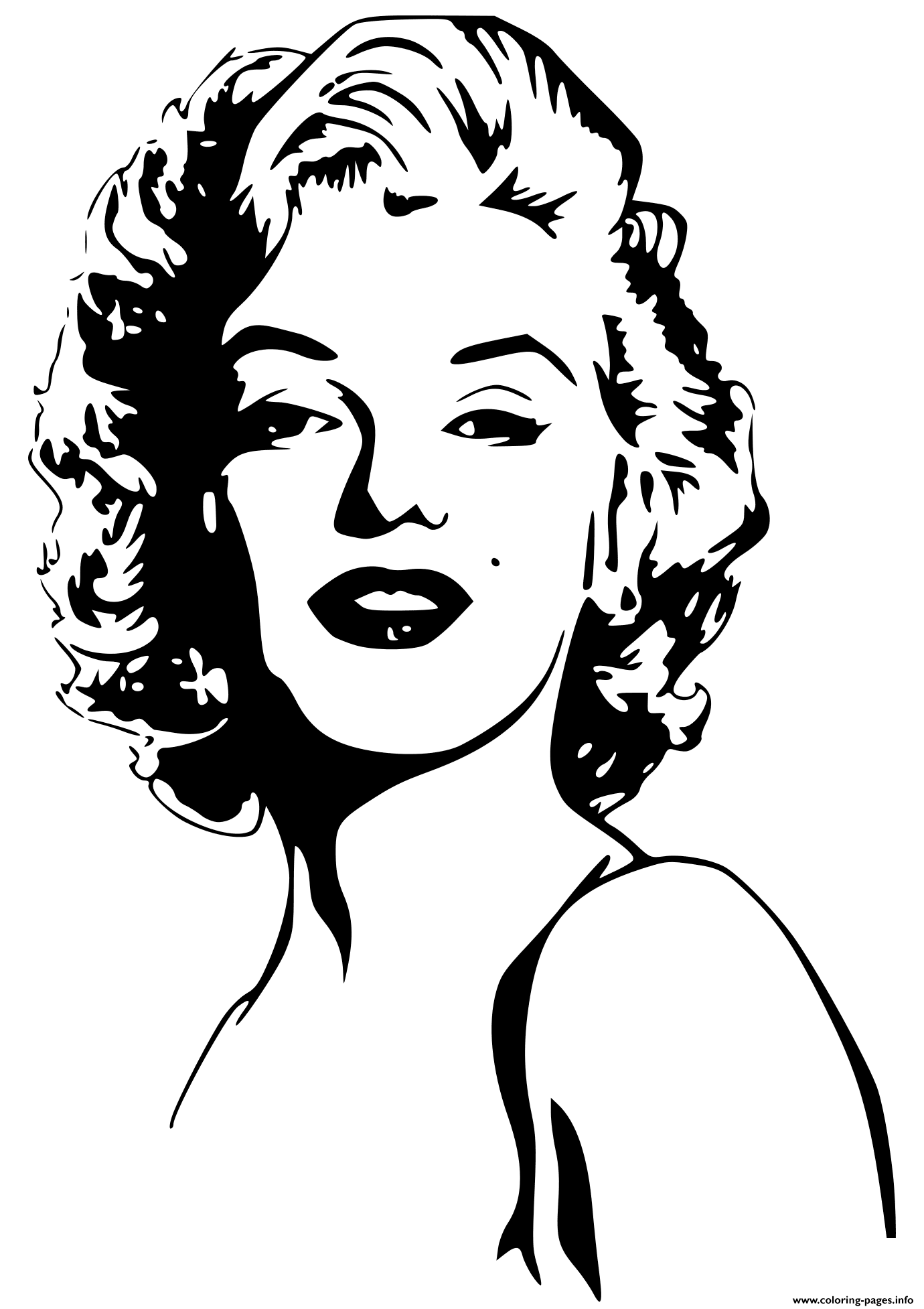Marilyn Monroe Celebrity Coloring Pages Printable