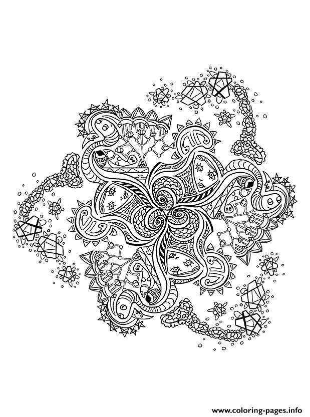 Mandala Pattern Adult Anti Stress Coloring Pages Printable