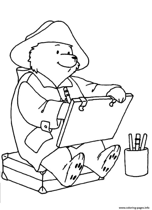 paddington bear coloring pages # 23