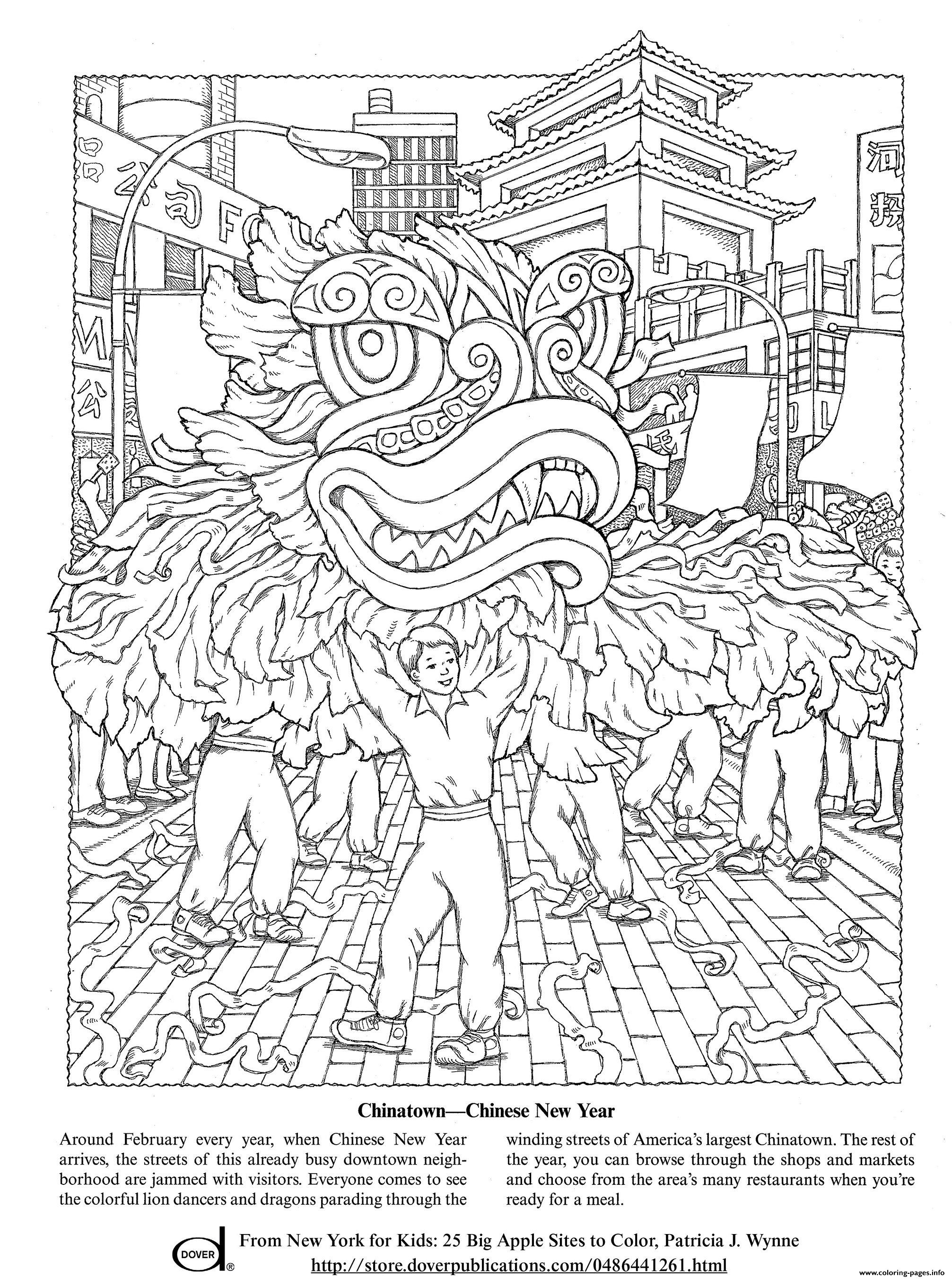 Celebrate Chinese New Year Coloring Pages Printable