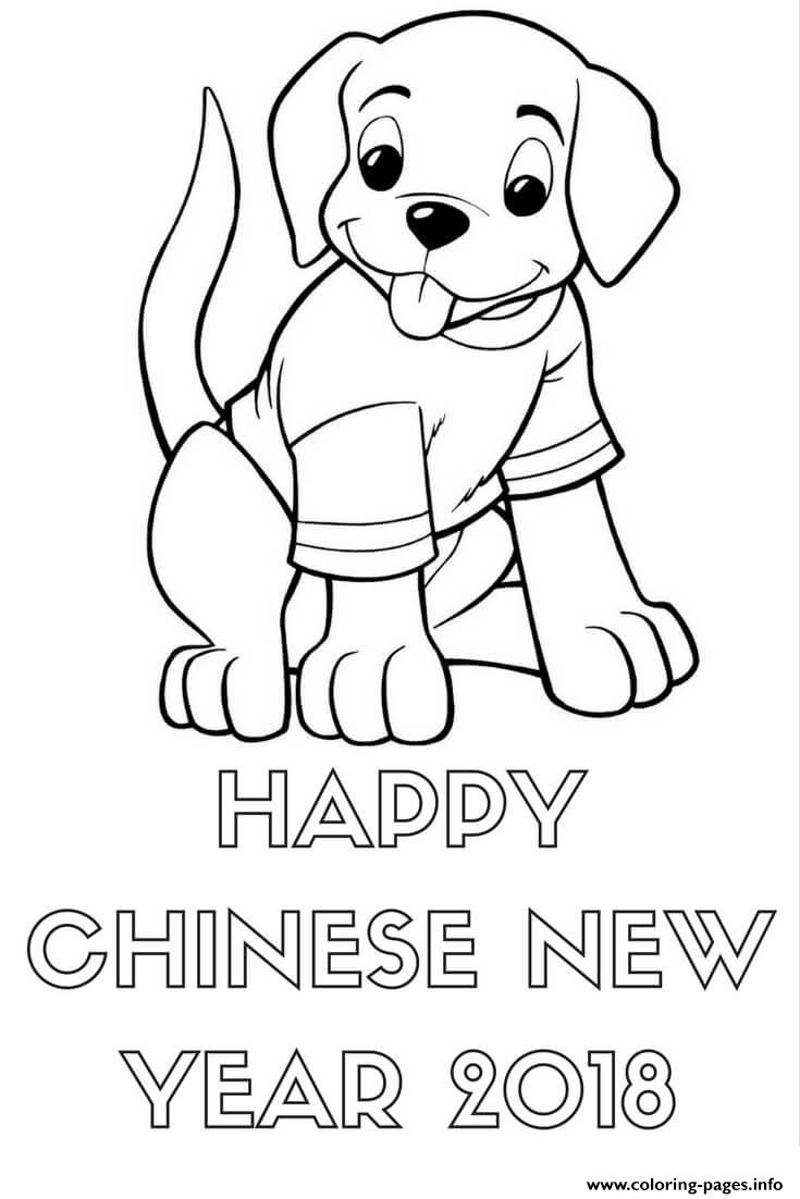 Happy Chinese New Year 2018 Sheet Coloring Pages Printable