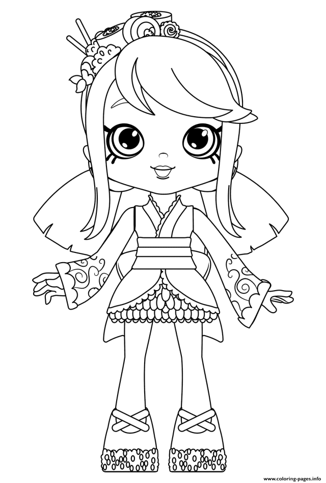 Sara Sushi Doll Coloring For Girls Coloring Pages Printable