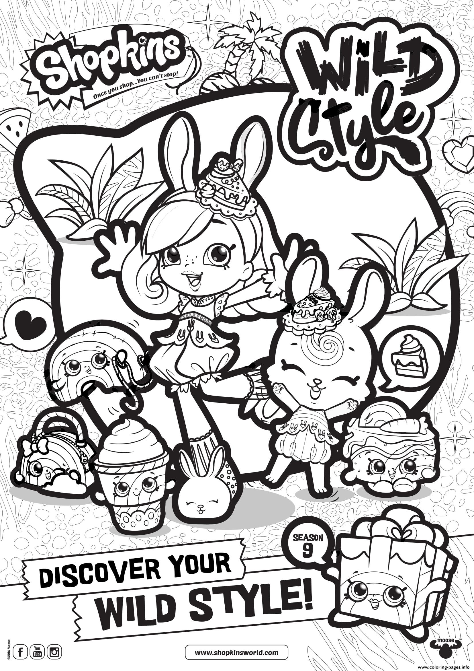 Shopkins Season 9 Wild Style 6 Coloring Pages Printable