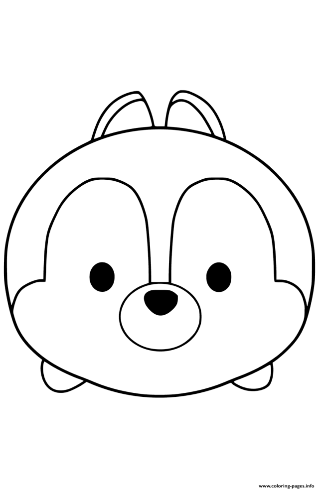 Tsum Tsum Chip Coloring Pages Printable