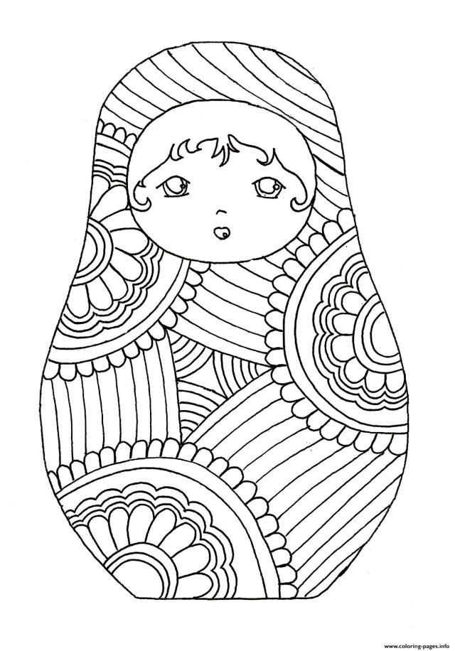 Disney Russian Dolls Coloring Pages Printable
