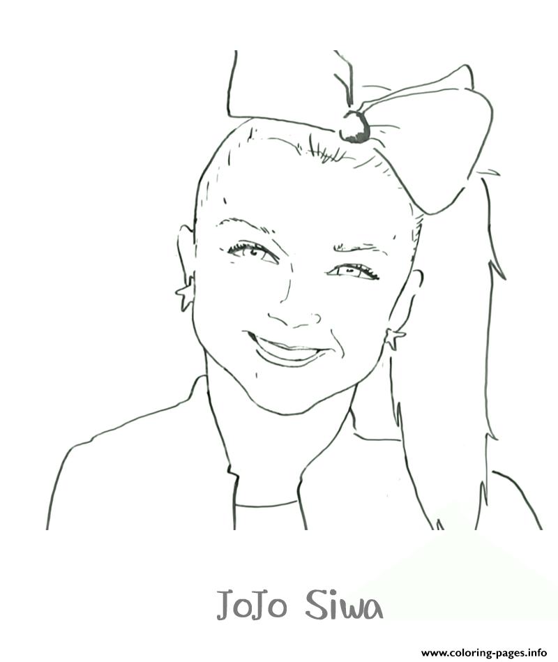 Printable Jojo Siwa Coloring Pages Printable