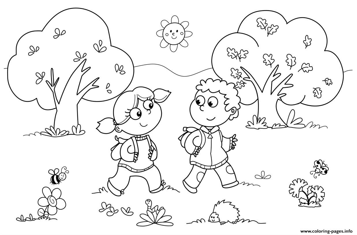 Kindergarten Back To School Coloring Pages Printable