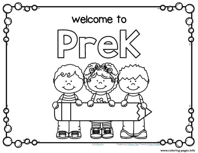 Practical Back To School For Preschool Coloring Pages Printable