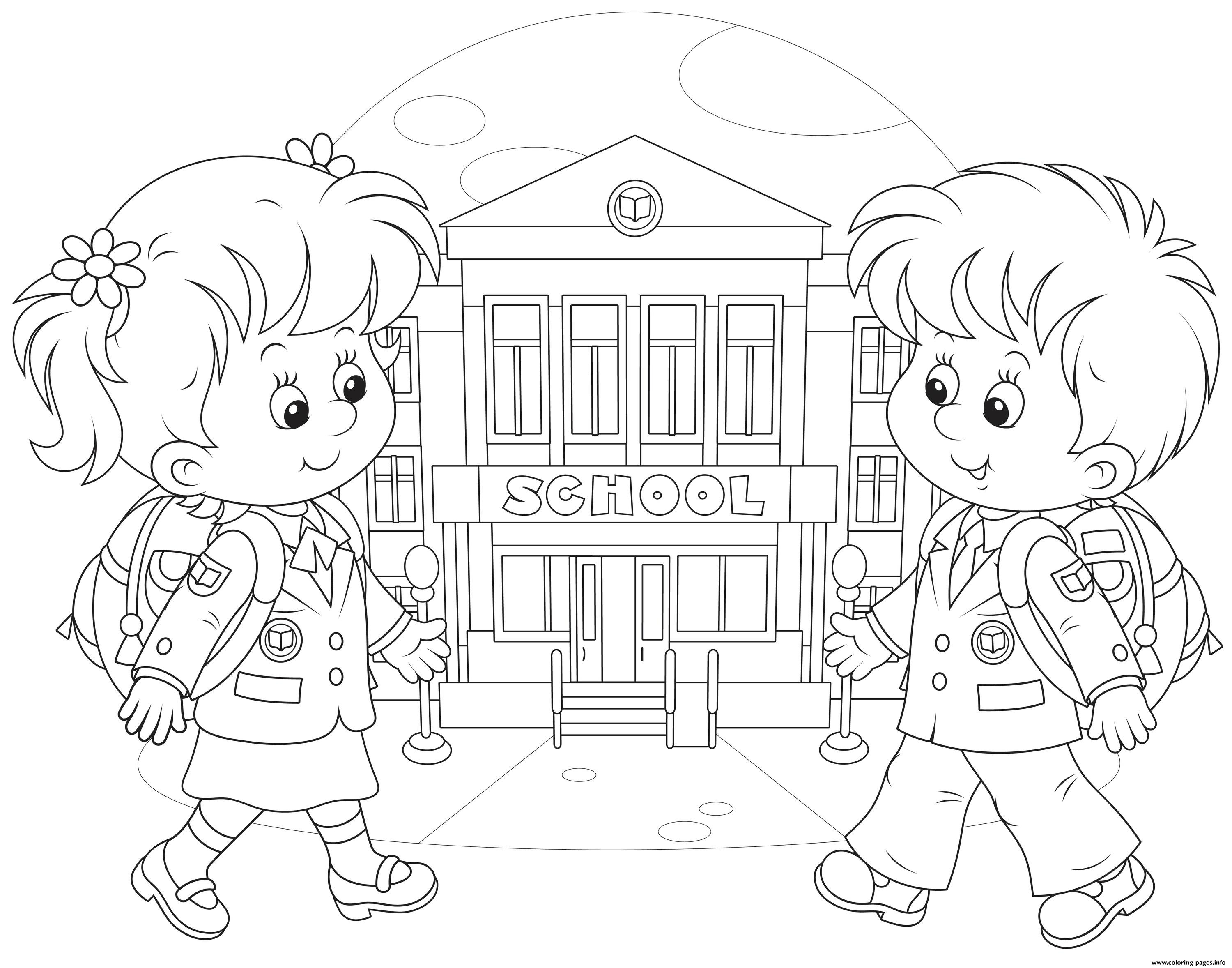 Back To School Kids Coloring Pages Printable
