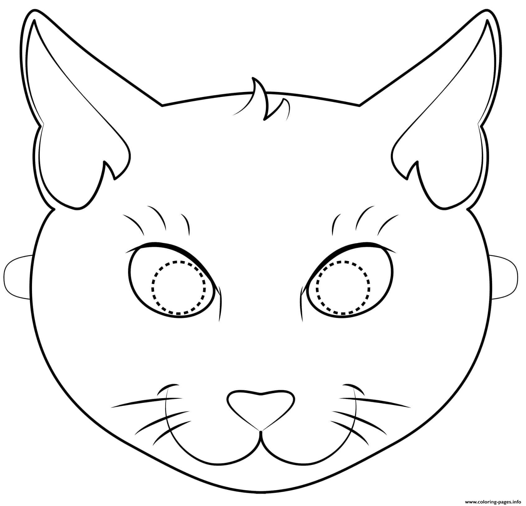 Challenger image regarding cat mask printable