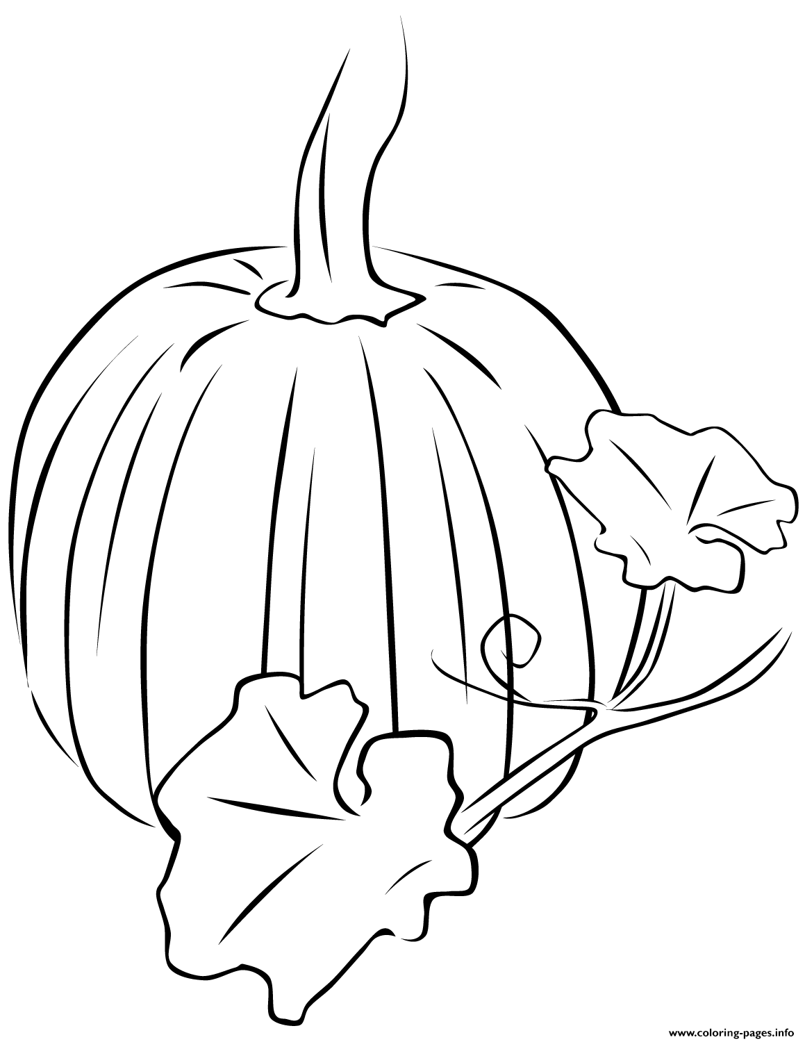Pumpkin Halloween Fall Leaves Coloring Pages Printable