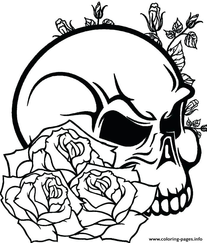 sugar skull for teens coloring pages printable