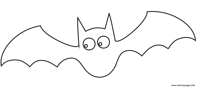 Bat Halloween Simple Coloring Pages Printable