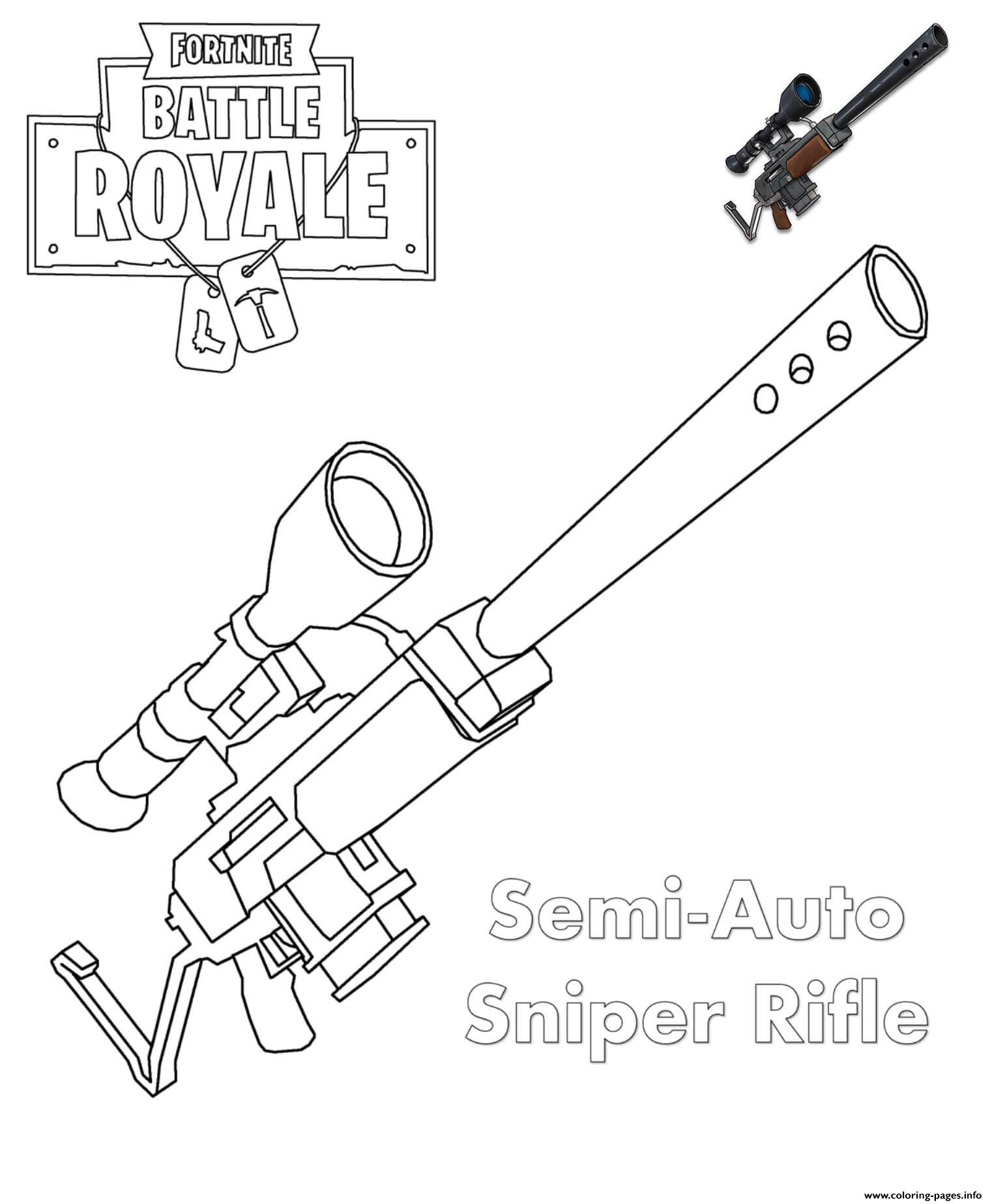 Sniper Fortnite Coloring Pages Printable