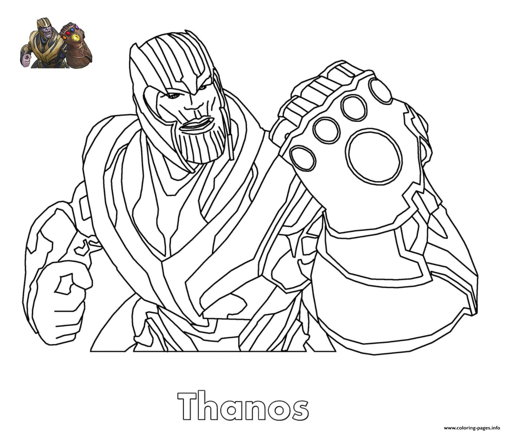 Thanos Fortnite Coloring Pages Printable