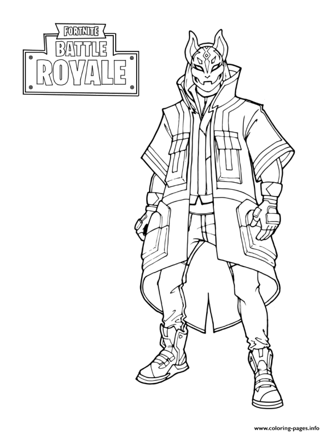 Fortnite Drift Stage 21 Coloring Pages Printable