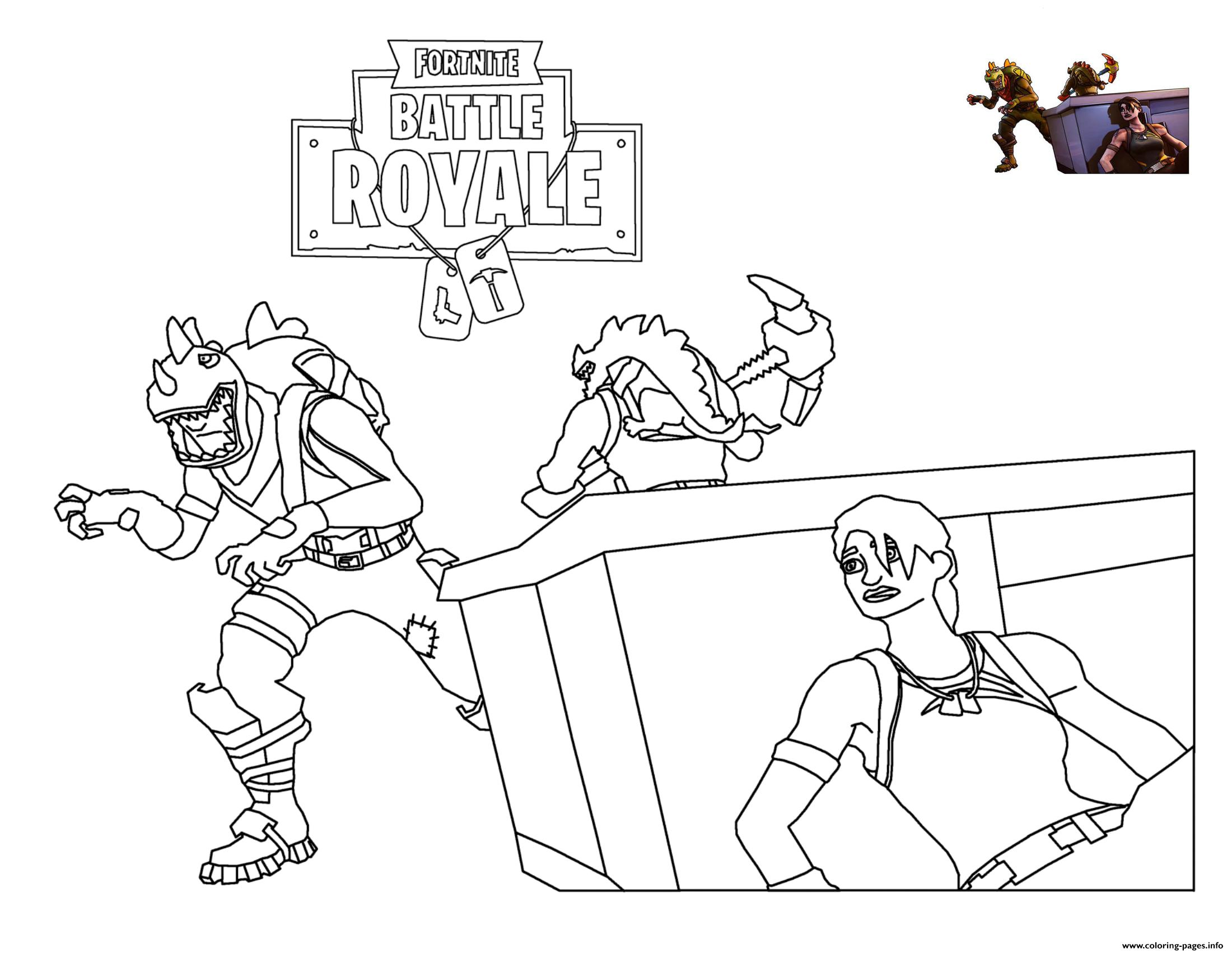 Rex Loading Screen Fortnite Coloring Pages Printable