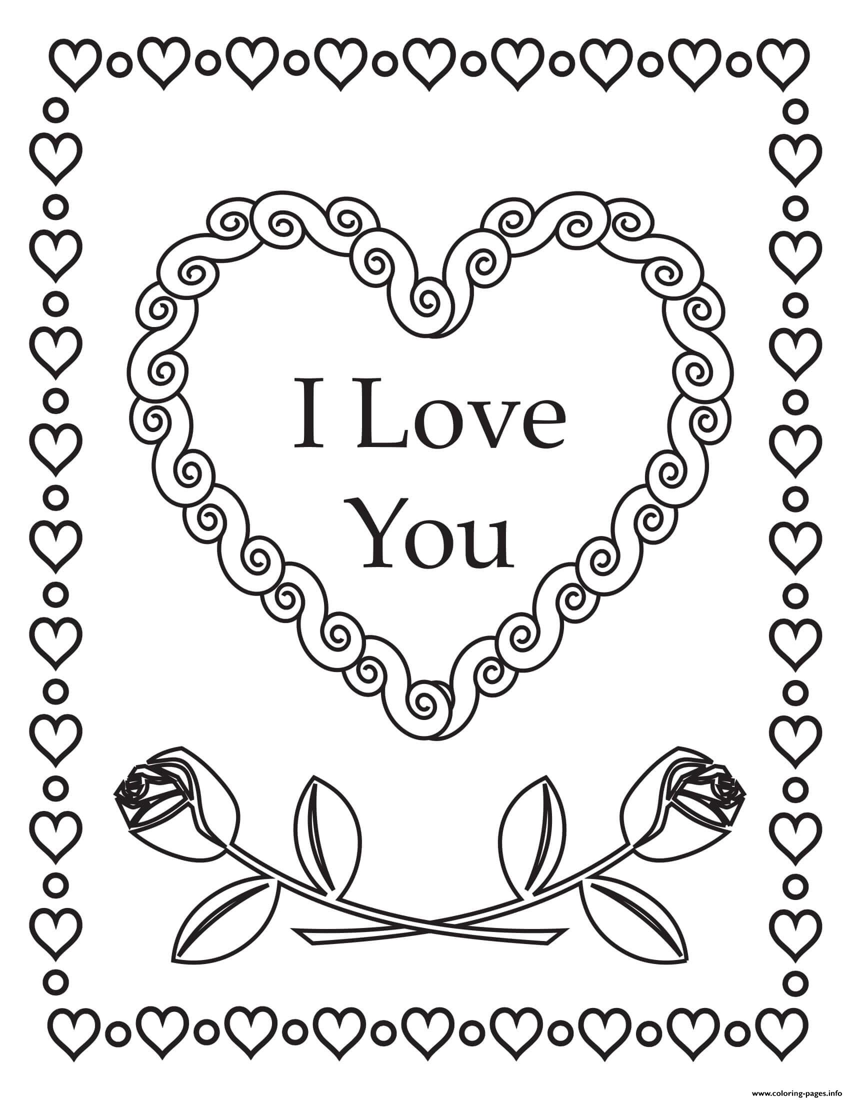 I Love You Printable Pages Coloring Pages
