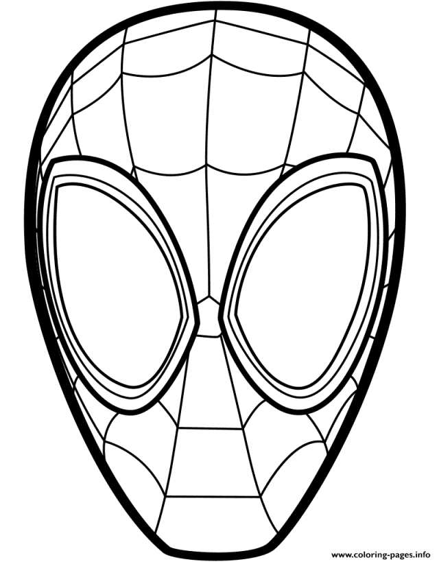 Spider Man Mask Coloring Pages Printable