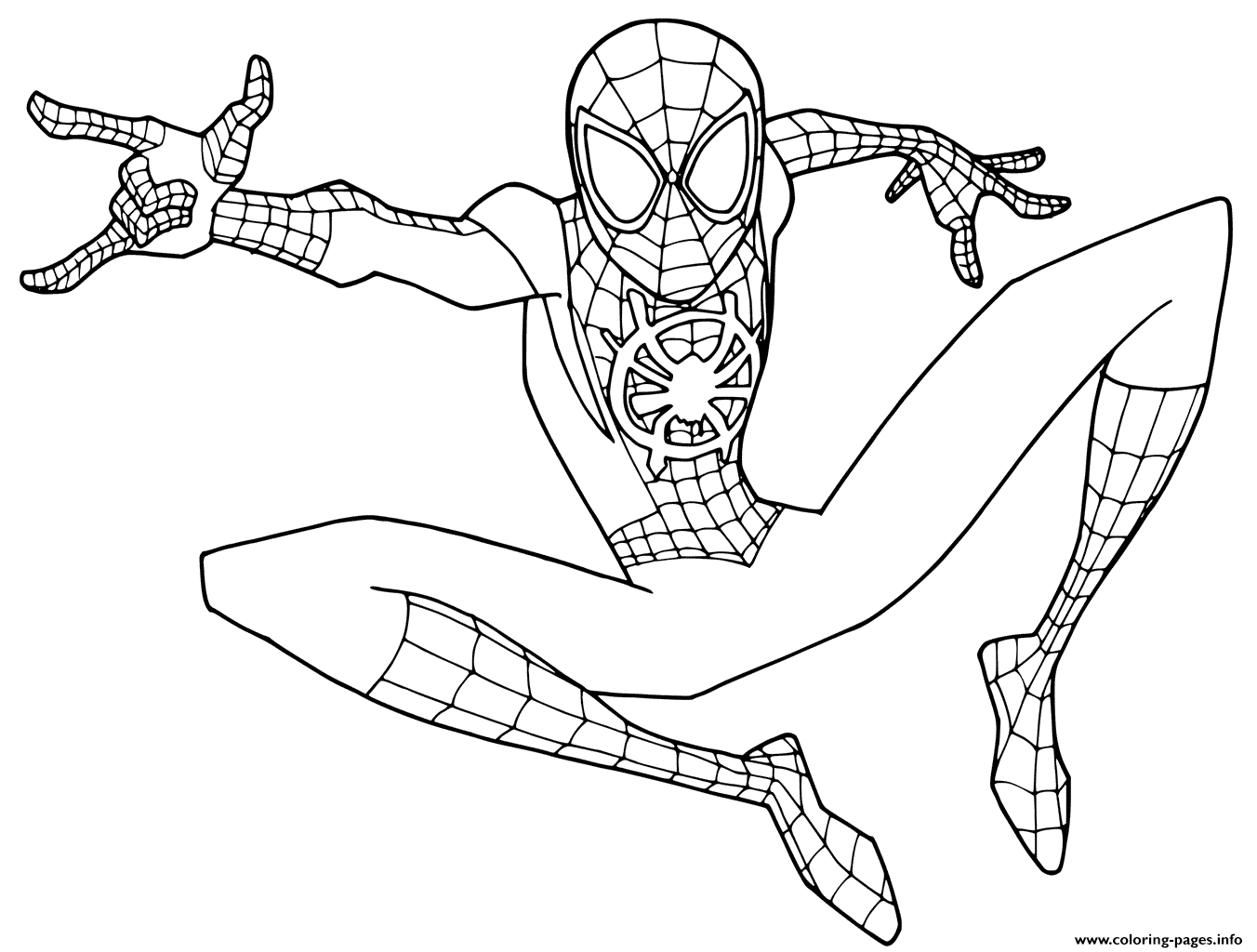 Young Spider Man Coloring Pages Printable