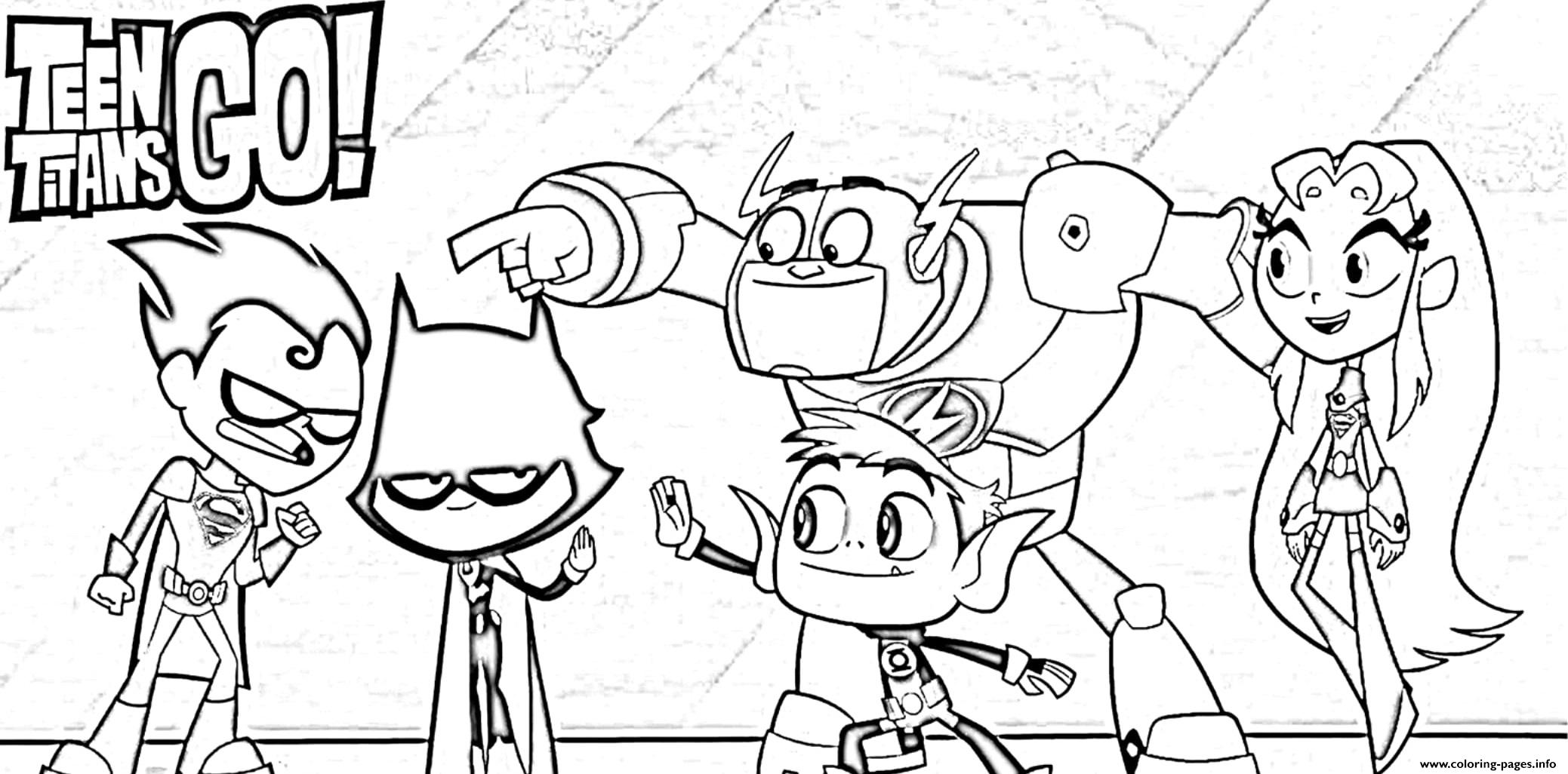 Teen Titans Go Halloween Cartoon Coloring Pages Printable