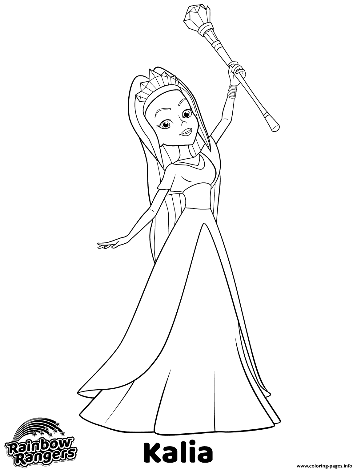 Ranbow Rangers Coloring Pages