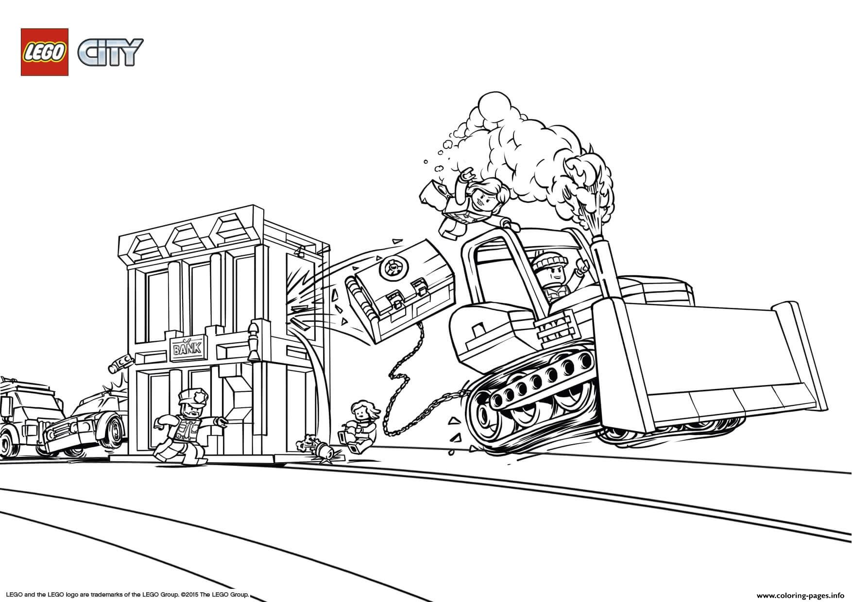 Lego City Catch The Crooks Coloring Pages Printable