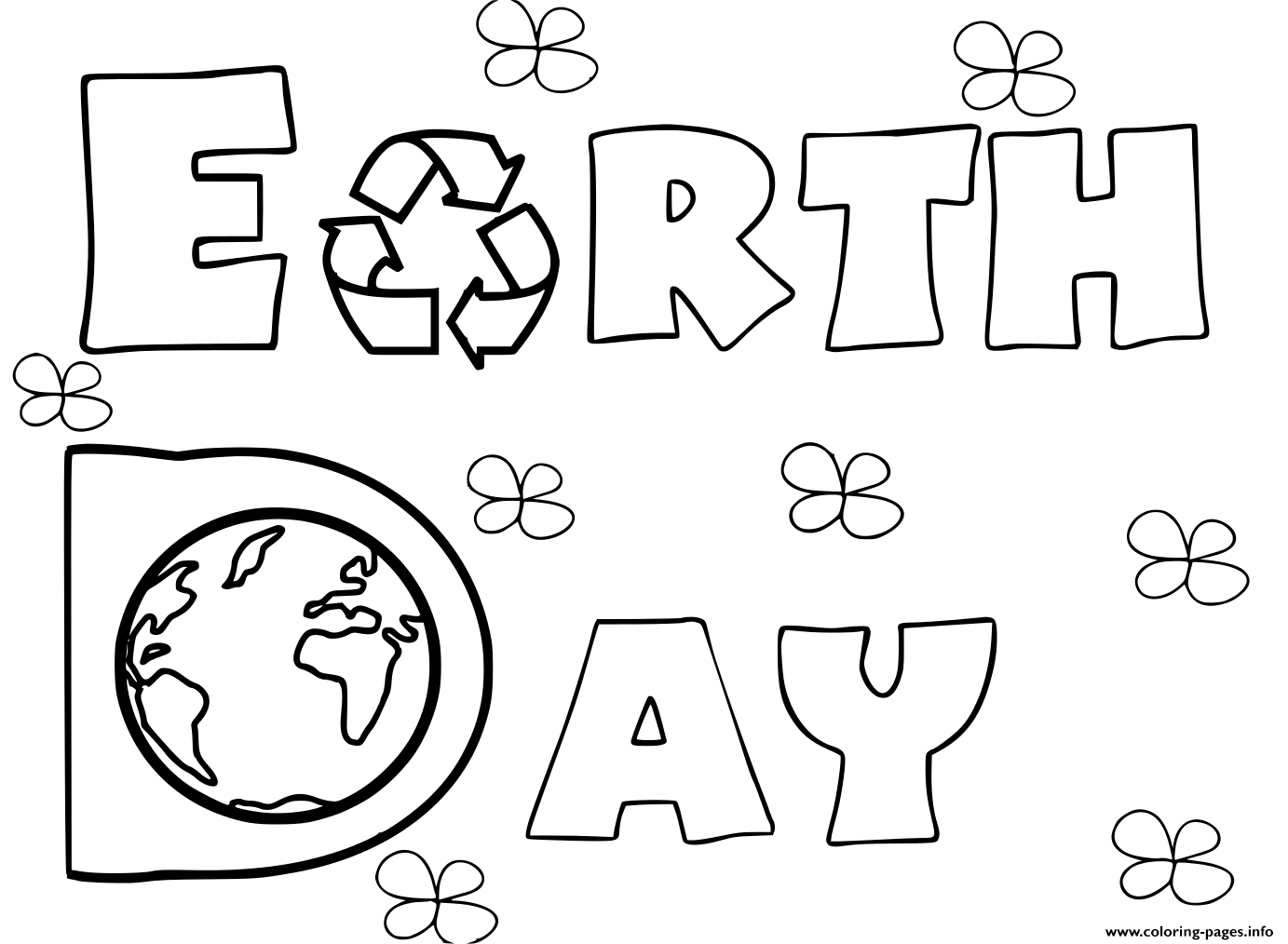 Earth Day Activities Coloring Pages Printable
