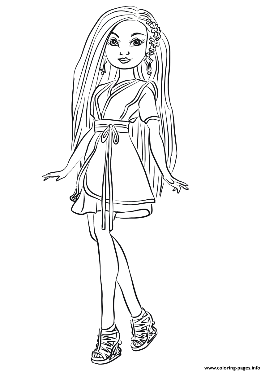 Lonnie From Descendants Wicked World Coloring Pages Printable