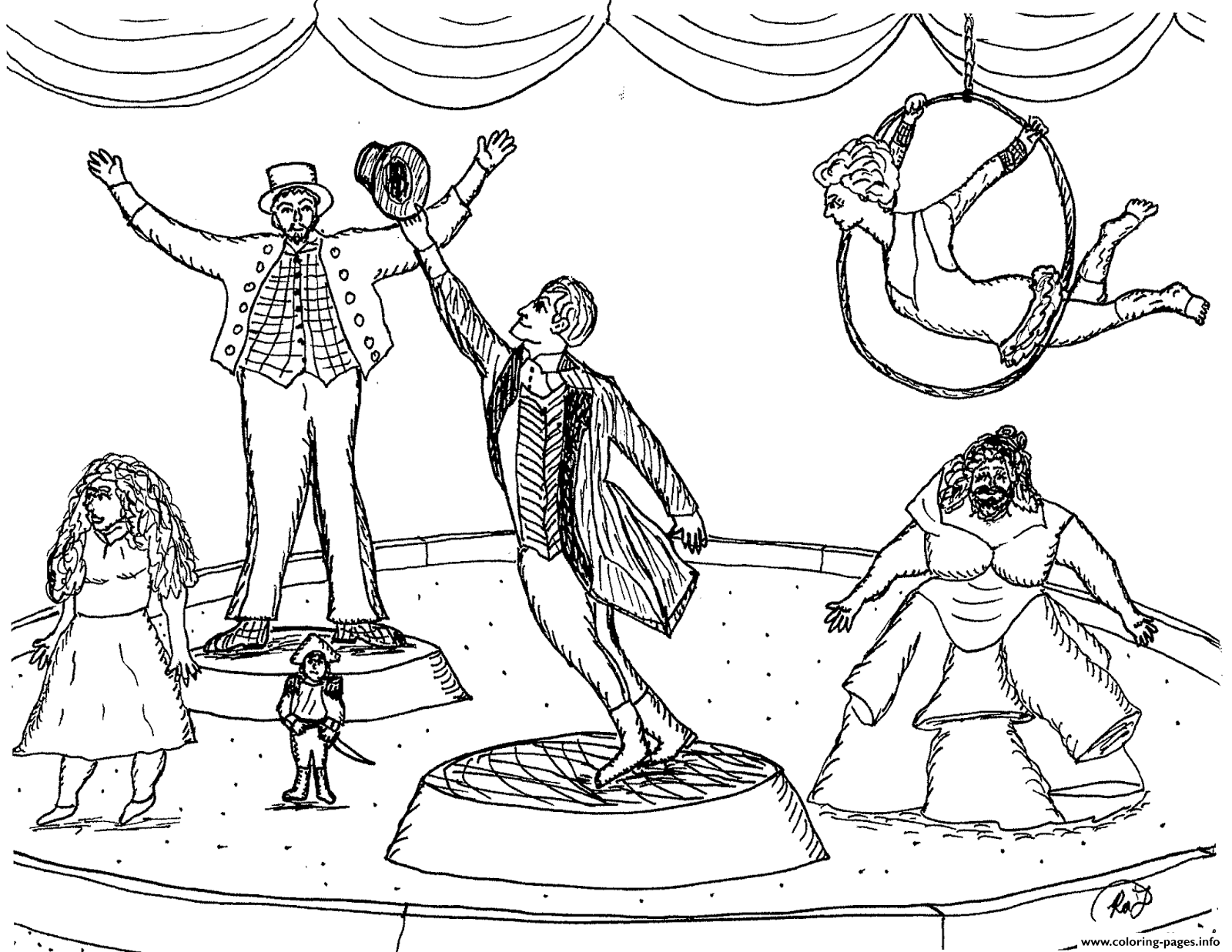 Robins Great The Greatest Showman Circus Coloring Pages