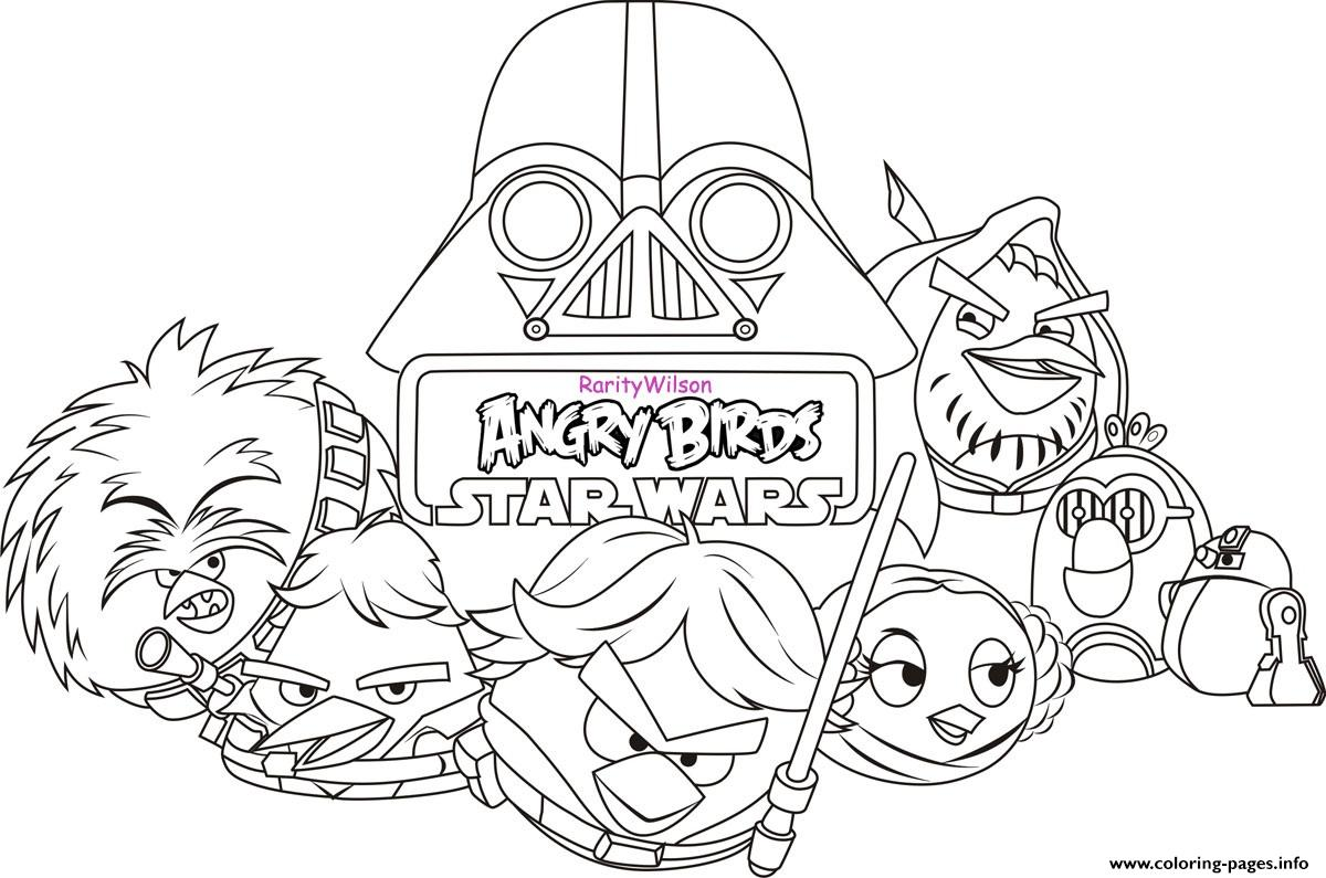 Angry Birds Star Wars 8 Coloring Pages Printable