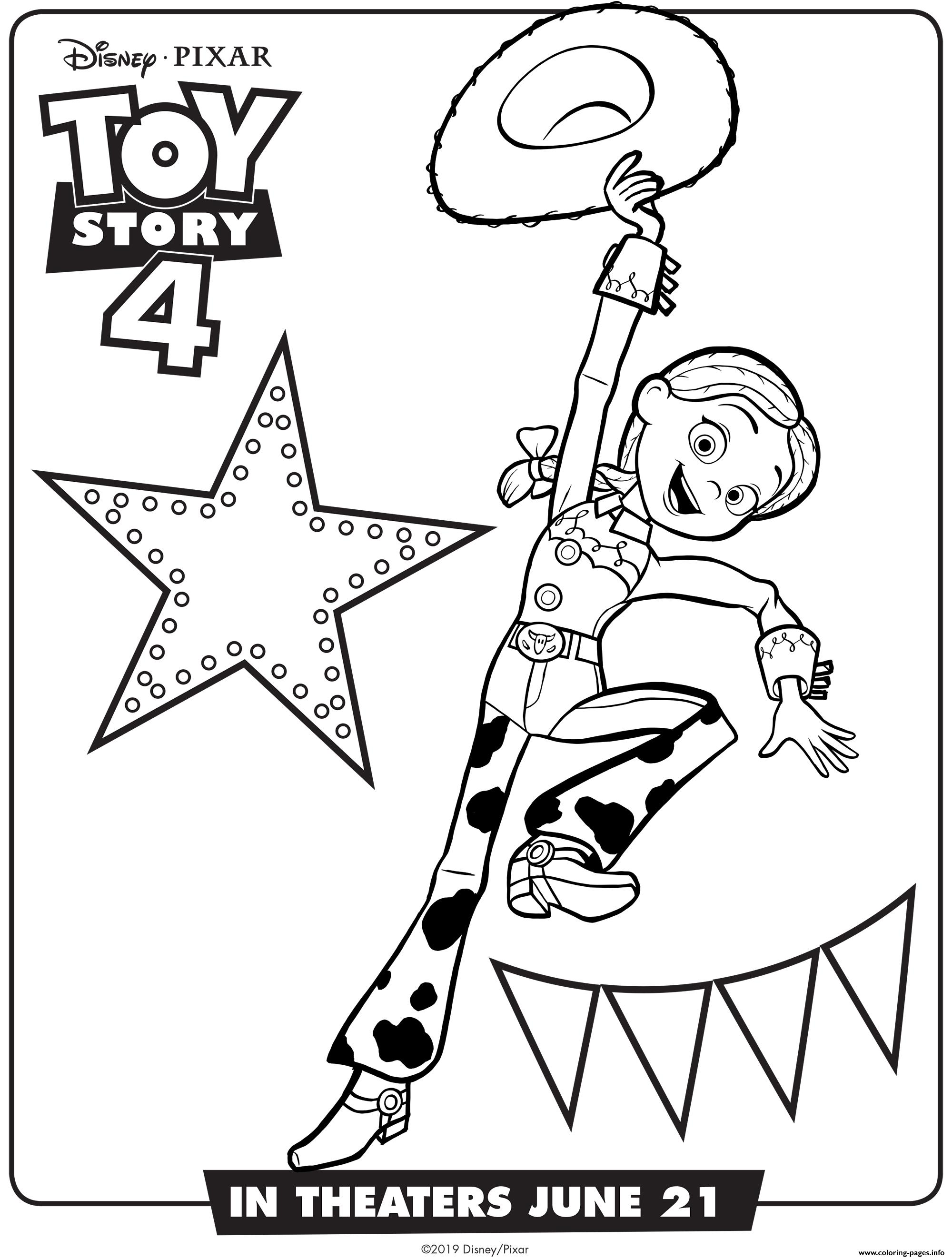 Toy Story 4 Jessie Coloring Pages Printable