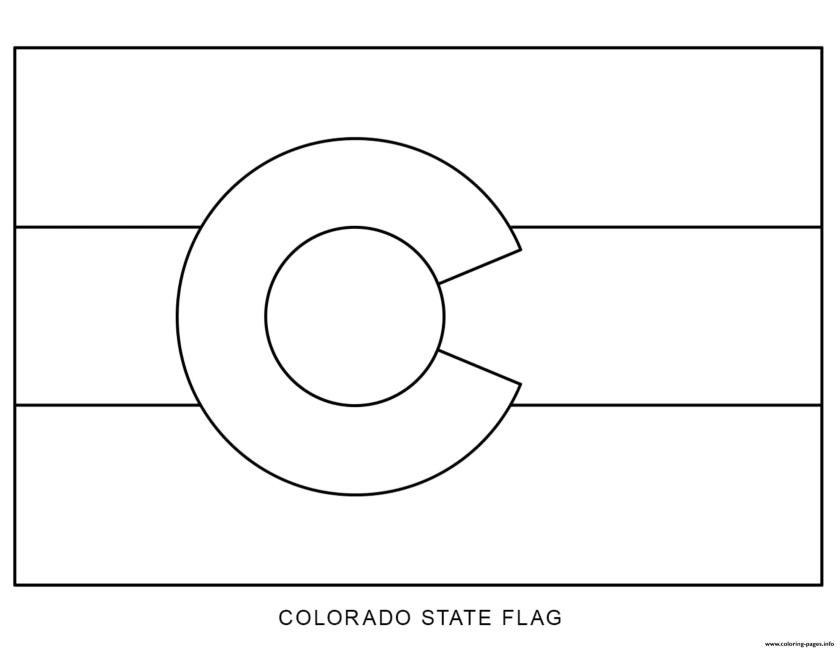 colorado flag us state coloring pages printable