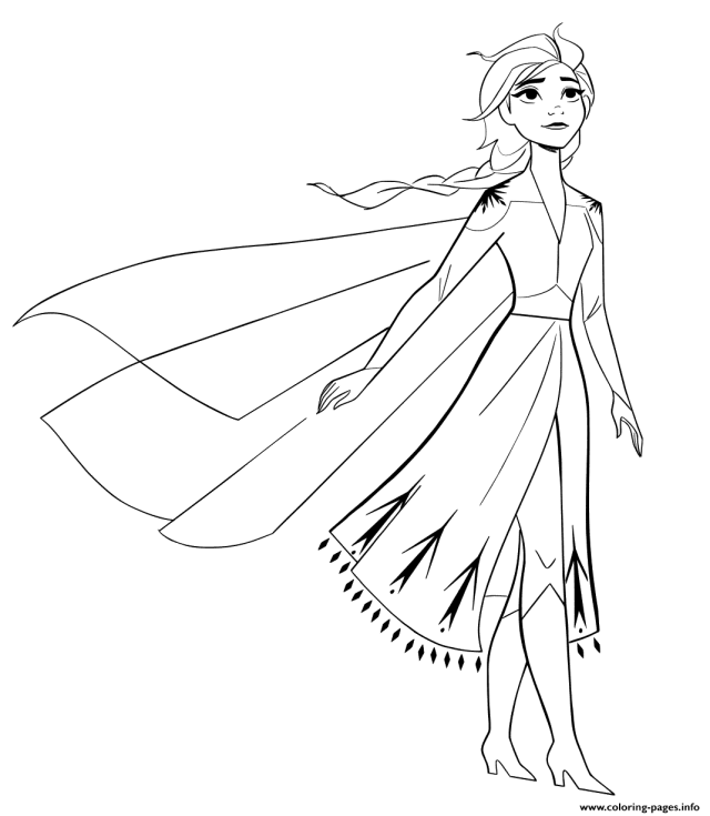Elsa From New Frozen 30 To Color Coloring Pages Printable