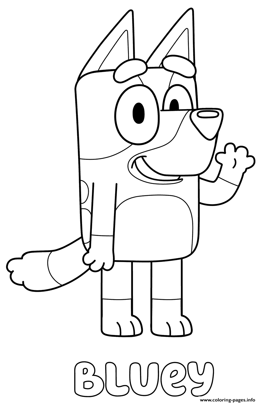 Blueys Coloring Pages Printable