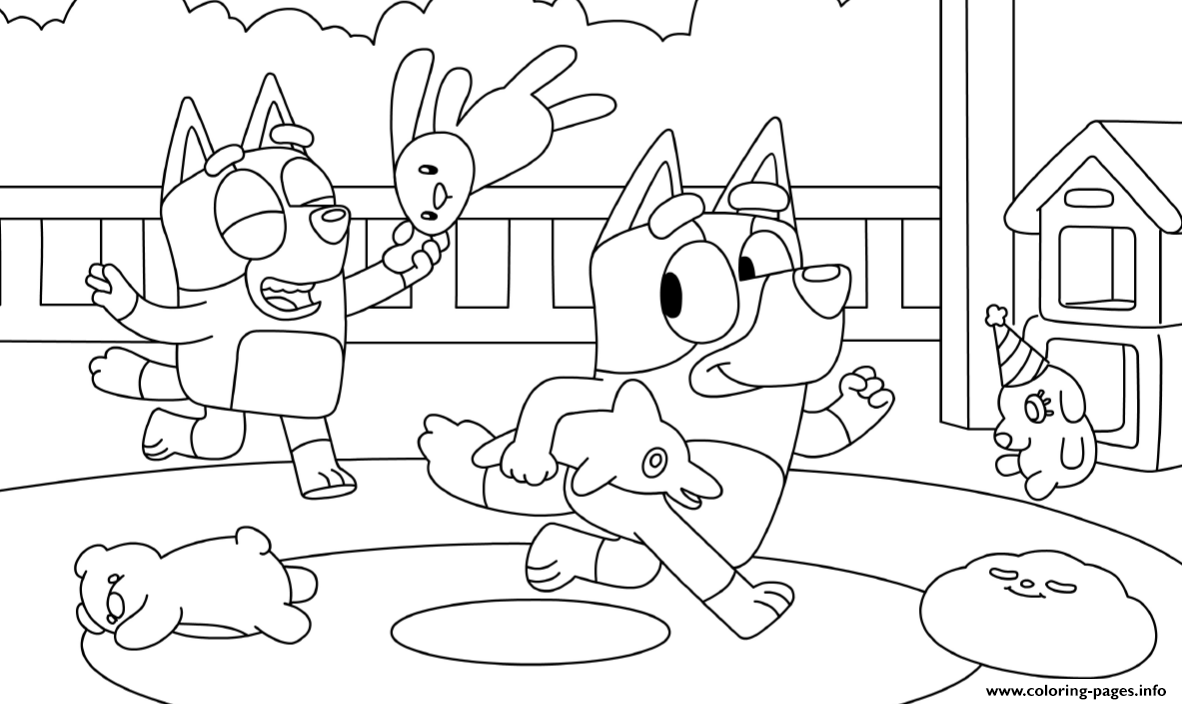 Playroom Coloring Pages Printable