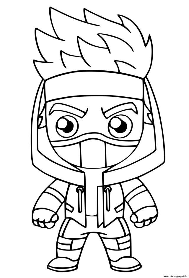 Ninja Fortnite Coloring Pages Printable