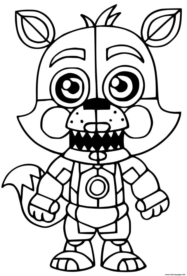 Foxy Coloring Pages Printable
